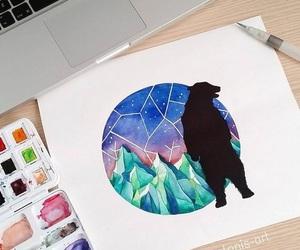 art, drawing, and bear image
