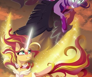 my little pony, twilight sparkle, and sunset shimmer image