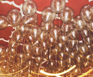 ballons, gold, and party image
