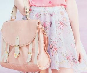 bag, fashion, and pastel pink image