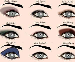 makeup, Avril Lavigne, and eye shadow image