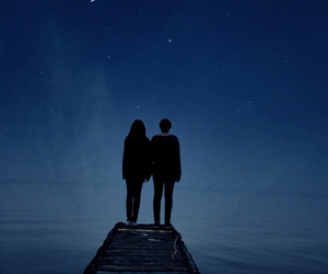 night, love, and couple image