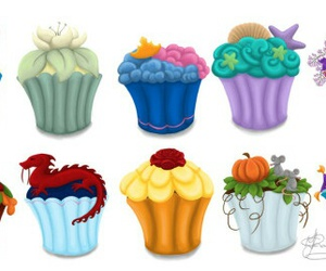 princess, disney, and cupcakes image