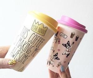 coffee, yeah bunny, and dog image