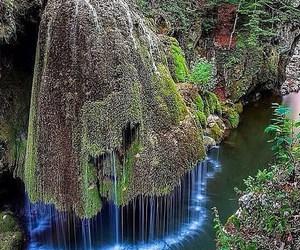 nature, waterfall, and romania image