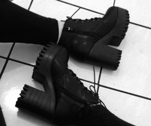 shoes, black, and dark image
