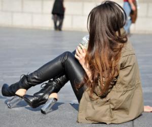 girl, nasty gal, and heels image