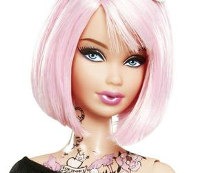 barbie, tattoo, and pink image