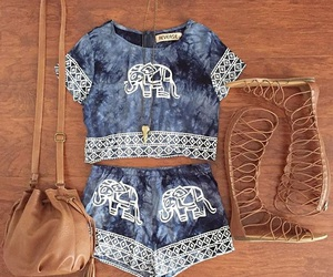 outfit, elephant, and fashion image
