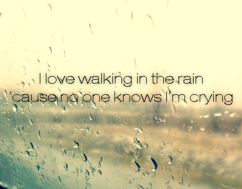 rain, cry, and sad image