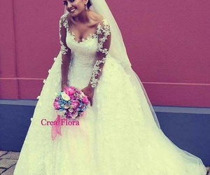 dentelle, dress, and flowers image