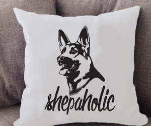 german shepherd, pillow, and puppy image