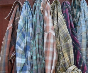grunge, flannel, and clothes image