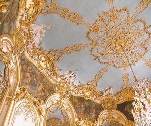 architecture, gold, and blue image