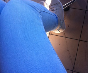 blue, coffee, and jeans image