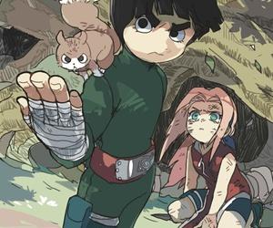 rock lee, naruto, and sakura image