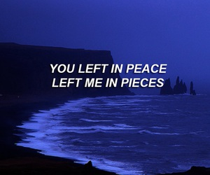 blue, broken, and pieces image