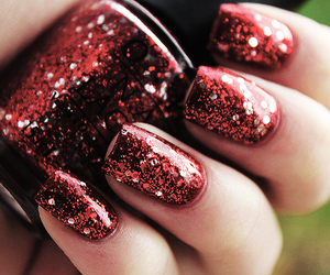 beautiful, red, and nails image