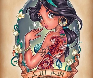 disney, jasmine, and princess image