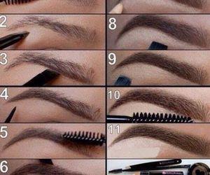 eyebrows, makeup, and make up image