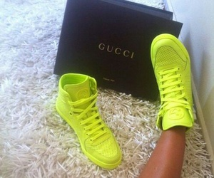 gucci, shoes, and neon image
