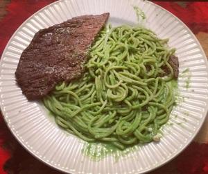 basil, carne, and food image