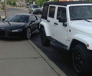 blackandwhite, cars, and jeep image