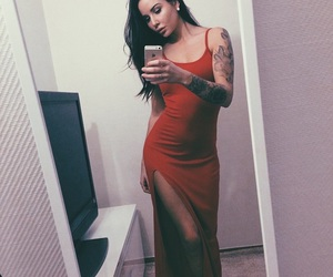 dress, girl, and tattoo image