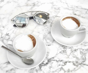coffee, marble, and sunglasses image