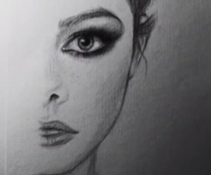 black&white, drawing, and draw image