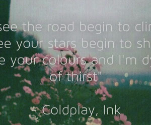 alternative, coldplay, and ink image