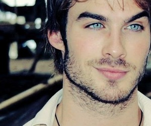 ian somerhalder, blue eyes, and damon salvatore image