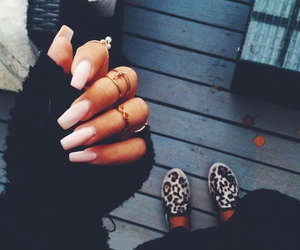 nails, girl, and shoes image
