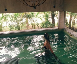 bikini, paradise, and pool image