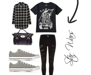 converse, darth vader, and flannel image