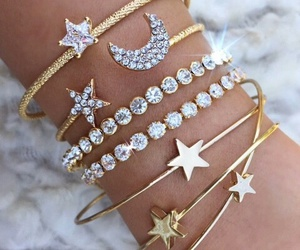 bracelet, stars, and accessories image
