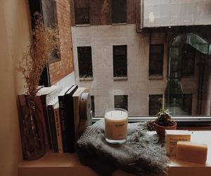 books, autumn, and candle image