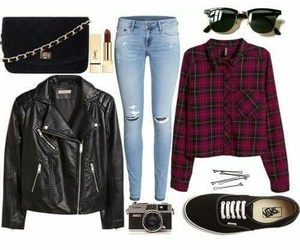 grunge, outfit, and rock image