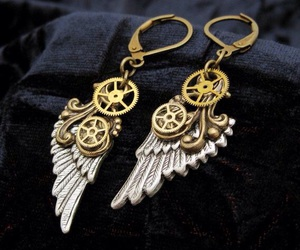 earrings and steampunk image