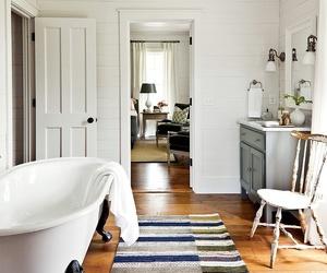 bathroom, home decor, and farmhouse image