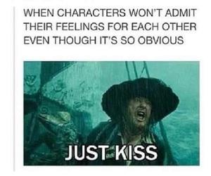 ship, funny, and kiss image