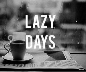 Lazy, coffee, and rain image