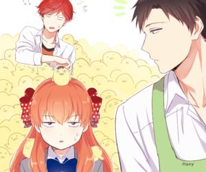 gekkan shoujo nozaki-kun, sakura chiyo, and mikoshiba mikoto image