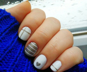 heart, manicure, and nail art image
