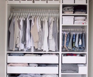 clothes, closet, and white image