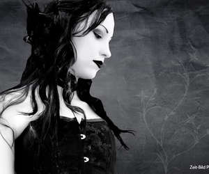 goth, beauty, and gothic image