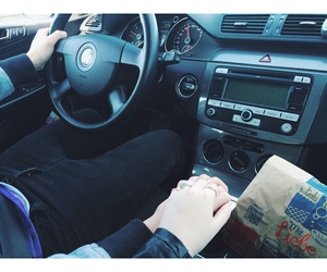 car, holding hands, and Relationship image