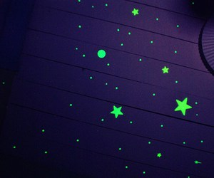 stars, bedroom, and neon image
