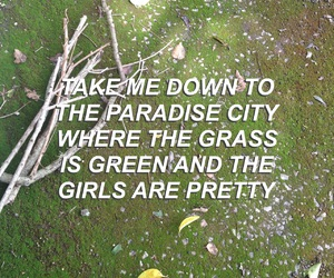 girls, grass, and green image