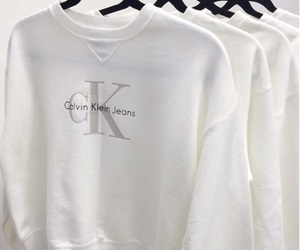white, Calvin Klein, and sweater image
